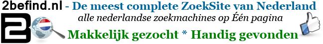 Startpagina HomePage www.2befind.nl WebZoeken Alle ZoekMachines op 1 pagina